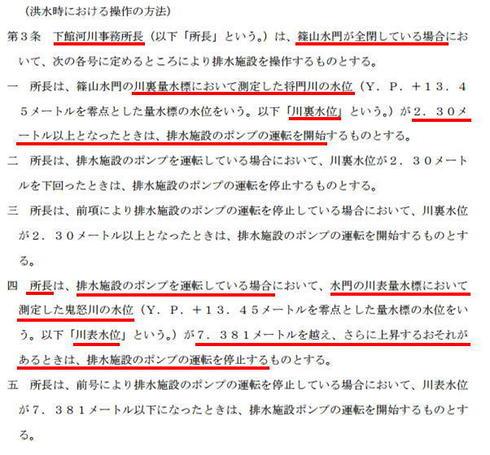 篠山救急排水施設 操作要領 第3条